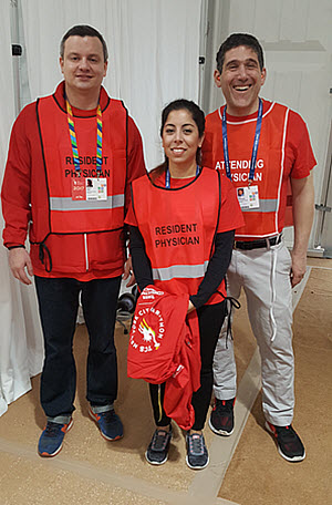 Group of doctors covering NYC Marathon