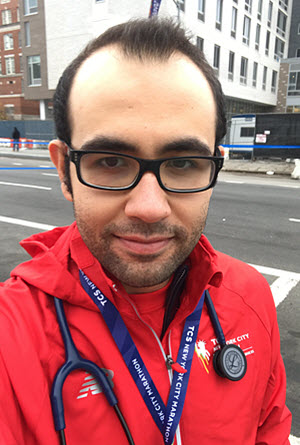 Doctor covering NYC Marathon