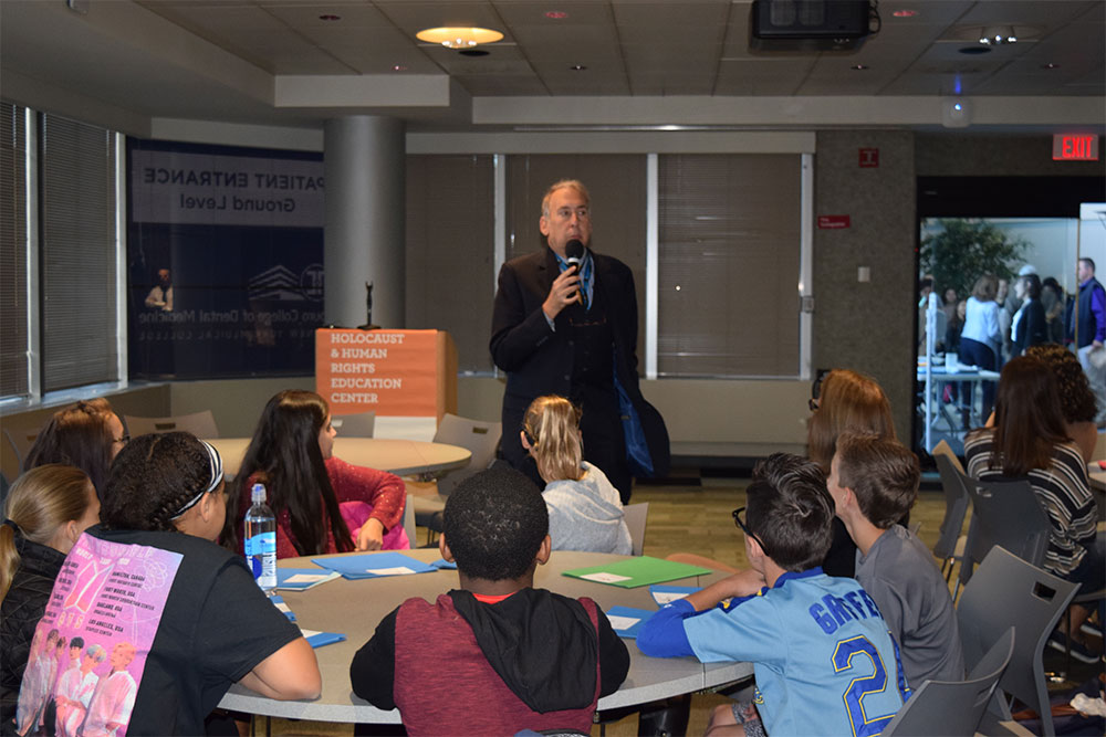Dr. Halperin Speaks at Human Rights Institute for Middle School Student Leaders