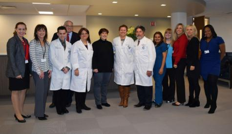 Photo: Michelle Rodriguez, fifth from left, with Touro Dental Health faculty, staff and administrators.