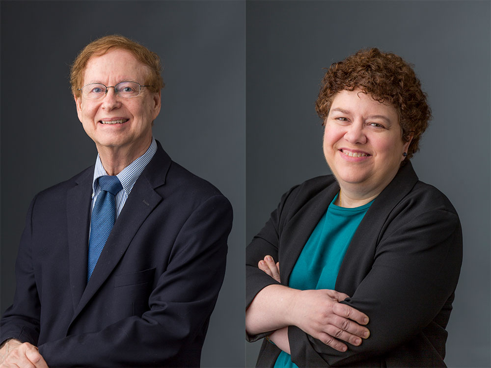 Gary P. Wormser, M.D., left, and Dana G. Mordue, Ph.D.